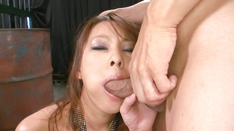 Asuka babe takes tool in mouth corners