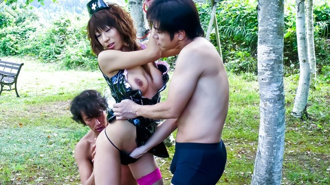 Asuka Ishihara is fucked and sucks tool