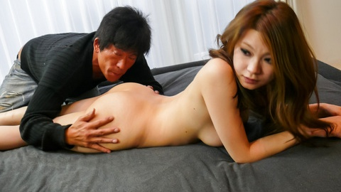 Busty MILF Arisa Kuroki gives asian blowjobs and rides cock