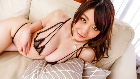 Busty Rie Tachikawa fucked with an asian big dildo