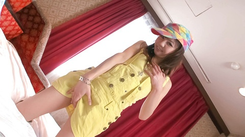 Cute and horny babe, Hikaru Aoyama teasing and hard pounded