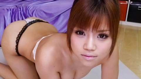 Hot Asian babe teases her man until he pull out his cock