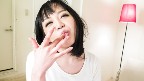 Hot Asian mom provides several Asian blowjobs at home