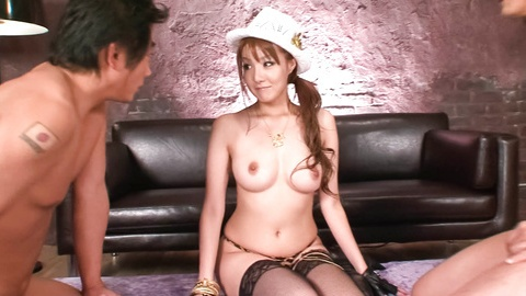 Hot Yuna Hirose smiles while gets vibrator