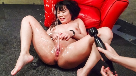 Nene Masaki gets vibrator and sucks cock