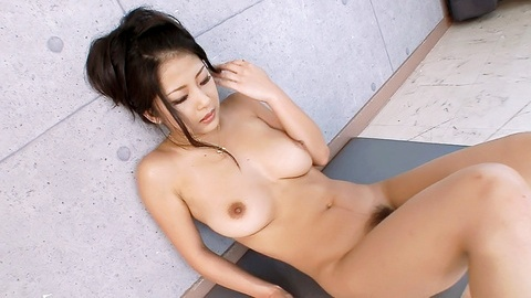 Suzuki Satomi goes wild with dildo attached to a mirror