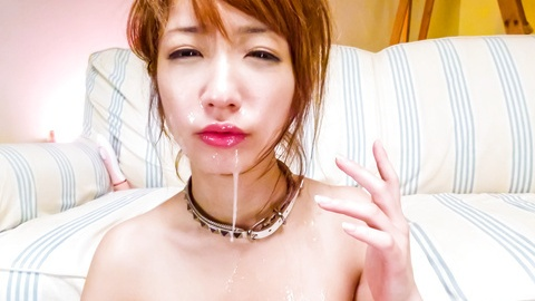Toy fucked and cum blasted in her pretty Asian face