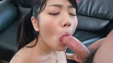 Misaki Oosawa cock sucking Asian girl in action