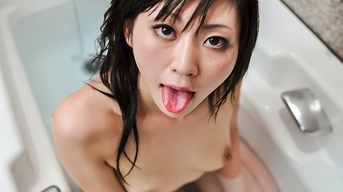 Serika Kawamoto provides amazing Japanese blowjob
