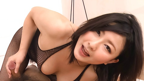 Gorgeous MILF Megumi Haruka asian woman blowjob to two